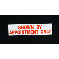 Shown By Appointment Only 6 x