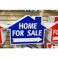 Home For Sale Di-Cut House Blue
