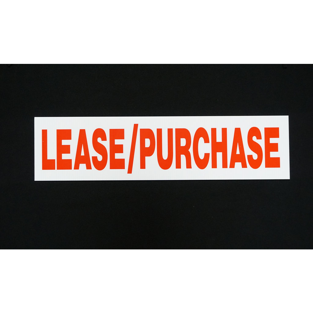 Lease/Purchase 6 x 24