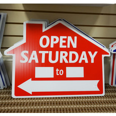 Open House Saturday __ To __ Di-Cut