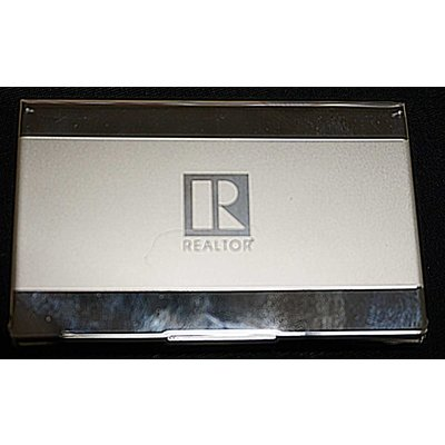 Business Card Holder Silver/Gold