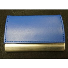 Business Card Holder Lethr/Chr