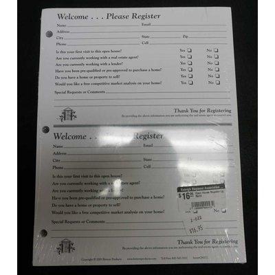 Open House Register Lg. Refill