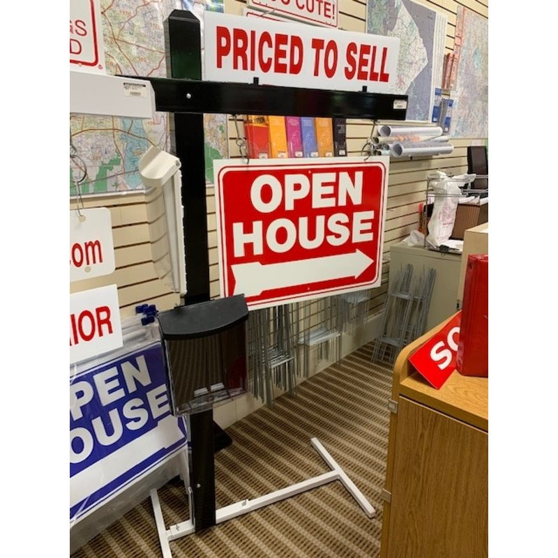 """DEE Sign Black Sign Post 64""""Tall with 30"""" wide arm"""