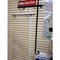 "Sign Post  White 1x1  inch w/ top rider clips 58"" (New) and anchor"
