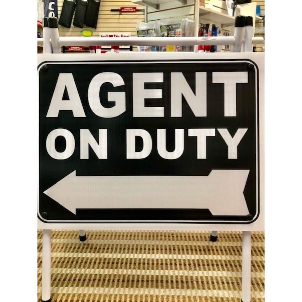 Agent on Duty Light A-Frame