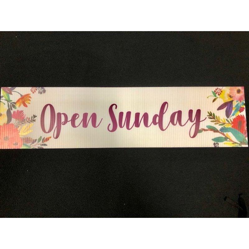 All Things Real Estate Open Sunday Flowers  6 x 24 Rider