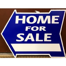 Home For Sale Di-Cut Arrow Red or Blue