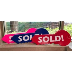 KEY SHAPED SIGN SOLD Large