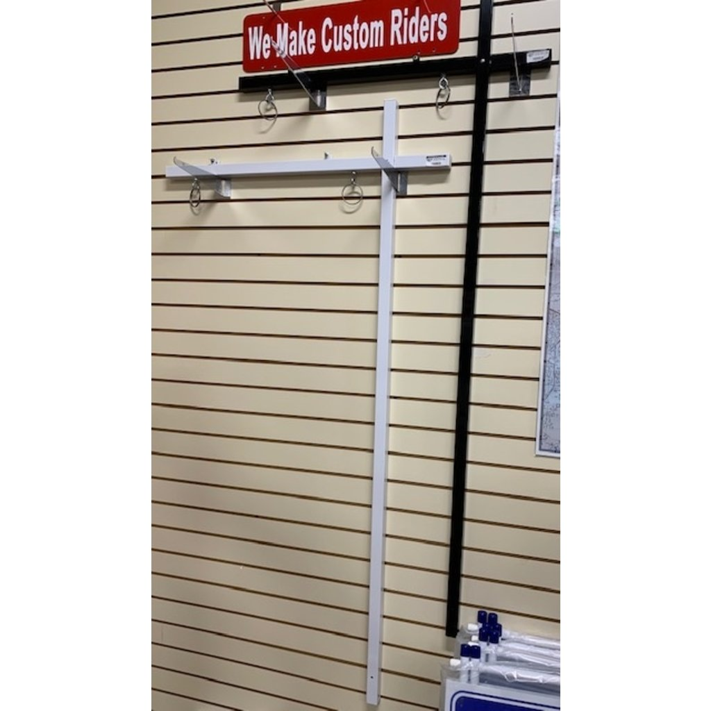 """DEE Sign Sign Post 1x1 w/ Top Rider Clips 58"""" (new) BLACK and anchor"""