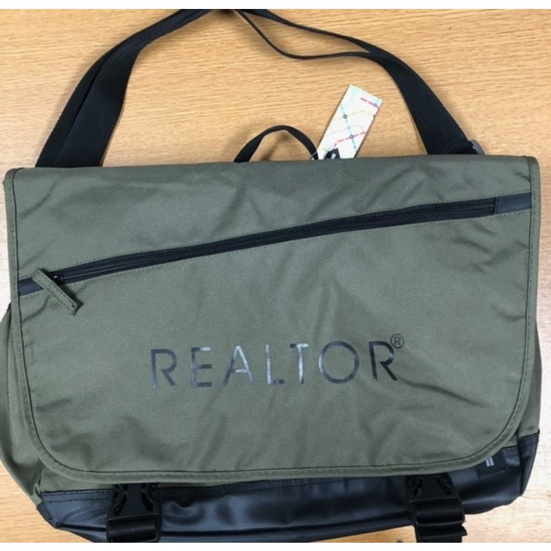 "Tranzip Comp Messenger Bag Green ""Realtor"""