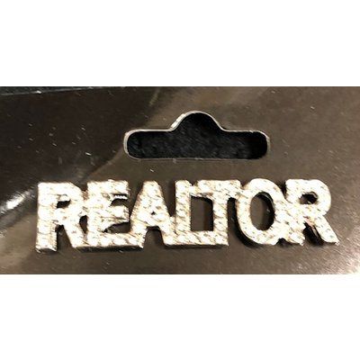 Pin-Silv/Gold Crystal Realtor
