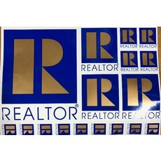 R Logo Sticker Decal Sheets