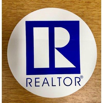 R Logo Paper Sticker  Round