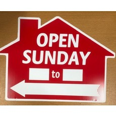 Open Sunday __ To __ Di-cut