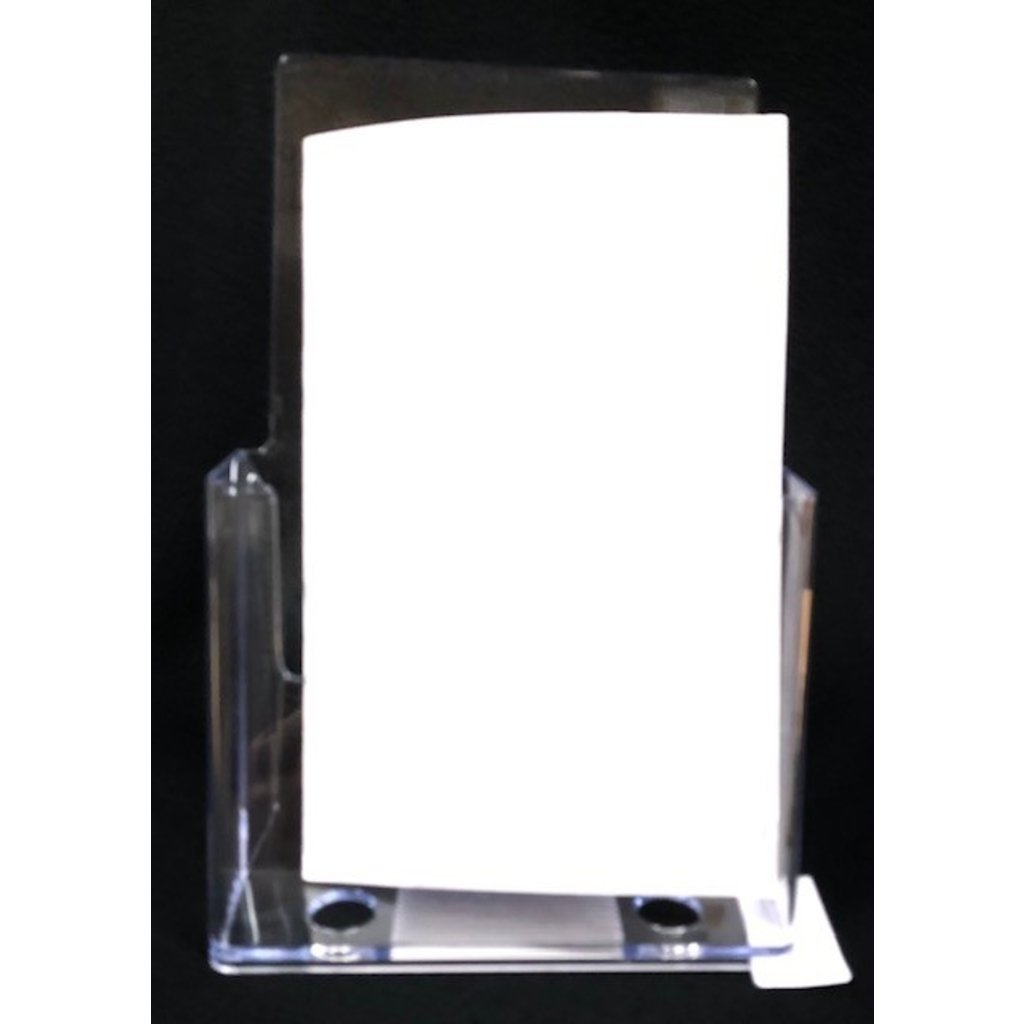"Brochure Holder slant back half letter holds 6""x 9"" paperwork"