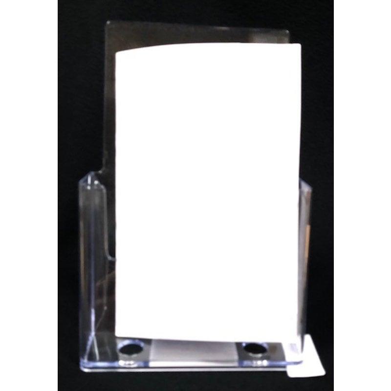 """Brochure Holder slant back half letter holds 6""""x 9"""" paperwork"""