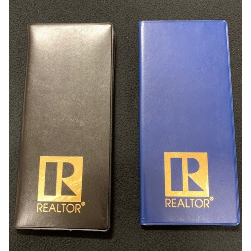 R Logo Business Card File Book