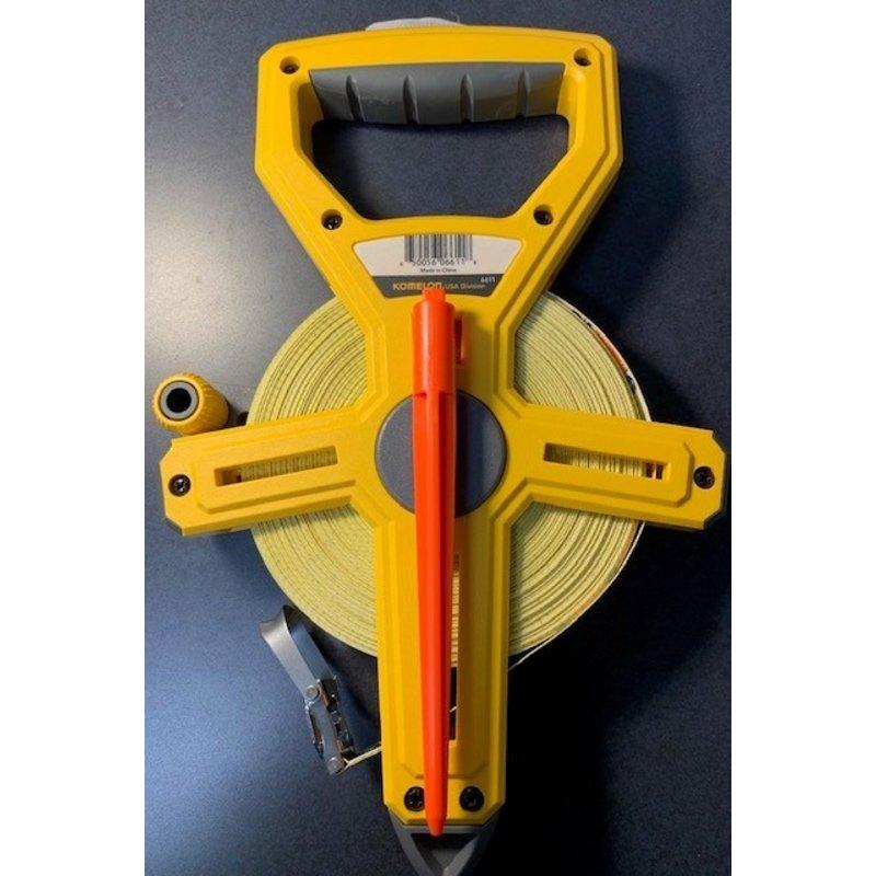Komelon 100' Measuring Tape Open Case