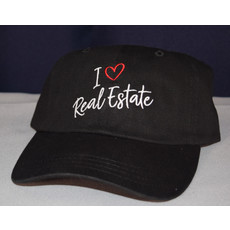 New Hat I LOVE REAL ESTATE black