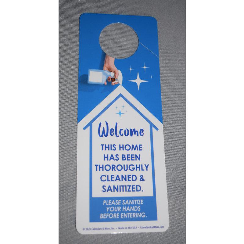 Door Hanger SANITIZED HOME