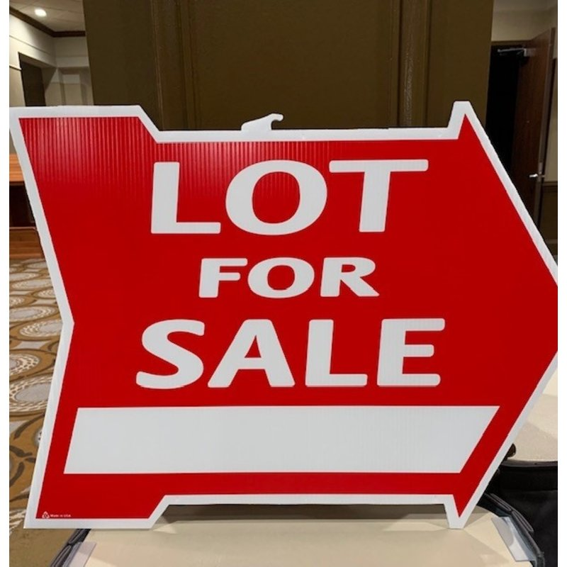 Lot For Sale Di-Cut Arrow
