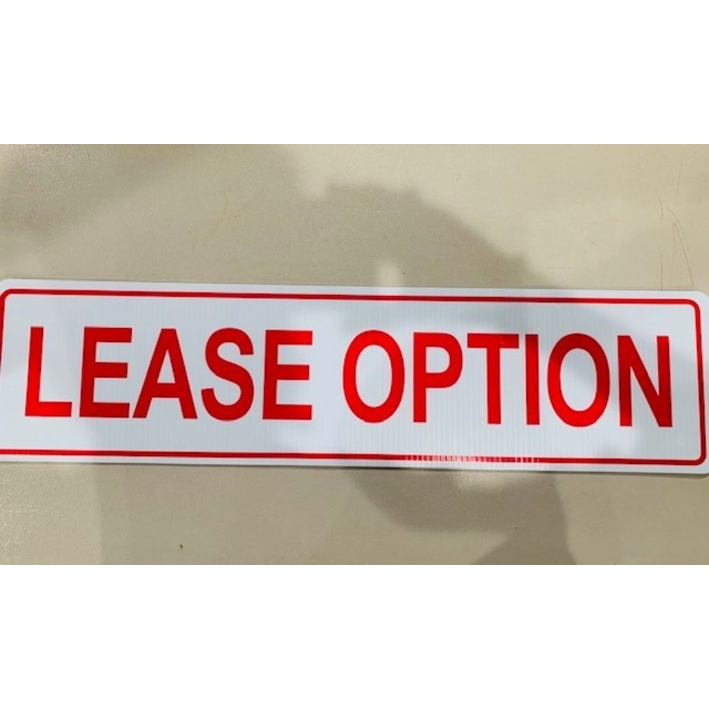 Lease/Purchase Lease Option 6 x 24