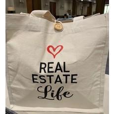 Real Estate Life Reusable Canvas Bag