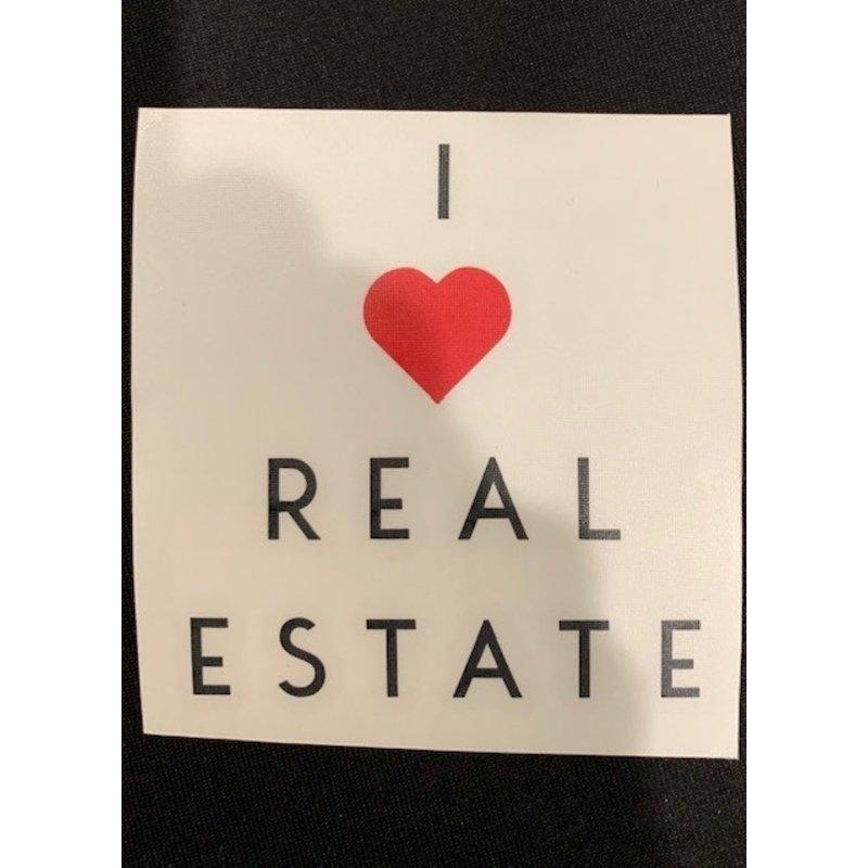 "Vinyl Transfer 3x3 ""I heart Real Estate"""