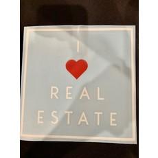 "Vinyl Transfer 7x7 ""I heart Real Estate"""