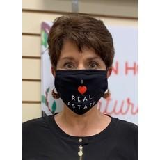 Black Face Mask I Love Real Estate