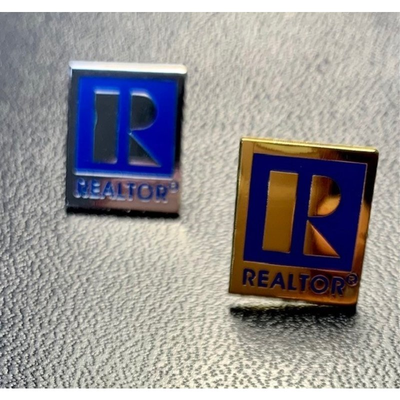 Pin - Realtor Gold & Silver Small