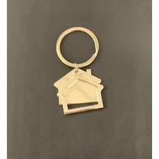 Key Ring House Silver