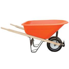 A.M. Leonard Leonard 8-Cubic-Foot Capacity Poly Tray Wheelbarrows with Flat-Free Tire