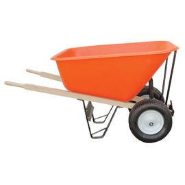 A.M. Leonard Leonard 2-Wheeled, 10-Cubic-Foot Capacity Poly Tray Wheelbarrow