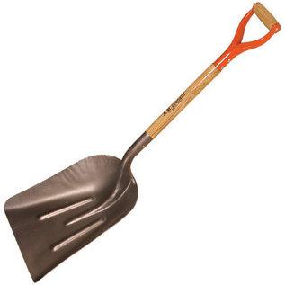 A.M. Leonard Leonard Steel Scoop Shovel Size 10 Blade D-Grip Handle