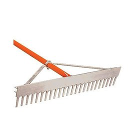A.M. Leonard Leonard 24-Inch Lightweight Aluminum Rake With Rounded Tine