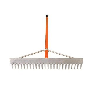 A.M. Leonard Leonard 36-Inch Lightweight Aluminum Rake With Rounded Tine