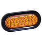 Buyers Products Company 6 Inch Amber Oval Recessed Strobe Light With 24 LED