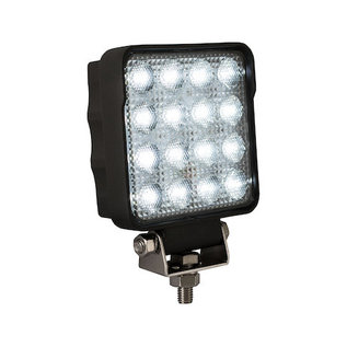 Buyers Products Company 4.5 Inch Square Ultra Bright LED Clear Flood Light