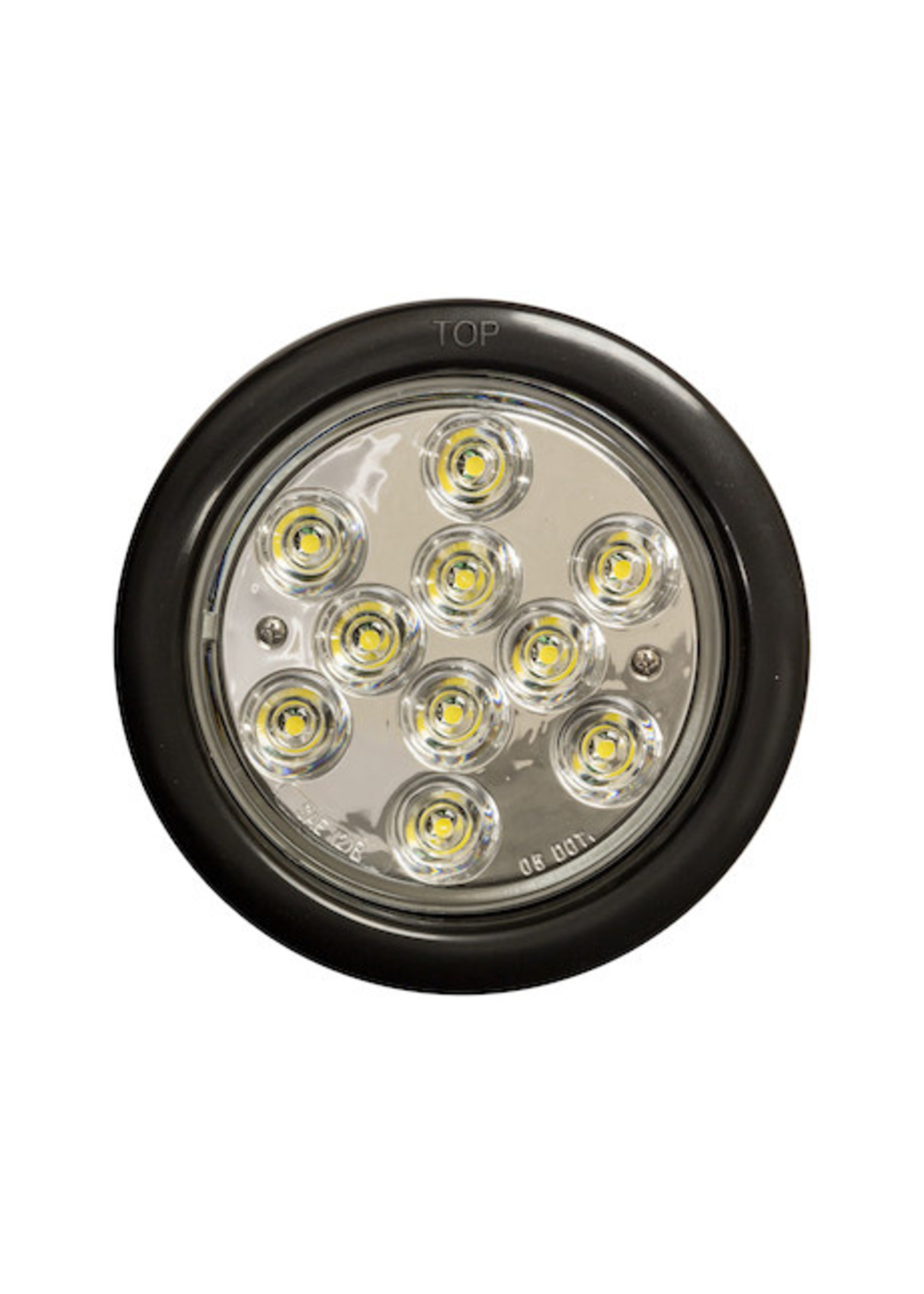Buyers Products Company 4 Inch Clear Round Backup Light With 10 LEDs