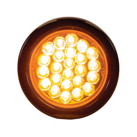 Buyers Products Company 4 Inch Amber Round Recessed Strobe With 24 LEDs