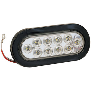 Buyers Products Company 6 Inch Clear Oval Backup Light Kit With 10 LEDs