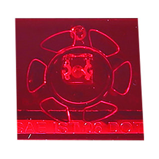 Buyers Products Company 17 Inch Red Slimline Stop/Turn/Tail Light With 9 LED