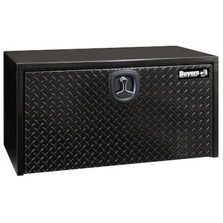 Buyers Products Company Black Steel Underbody Truck Box with Aluminum Door Series