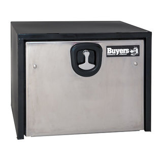 Buyers Products Company Black Steel Underbody Truck Box with Stainless Steel Door Series