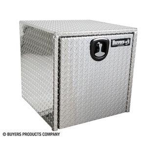 Buyers Products Company Diamond Tread Aluminum Underbody Truck Box with 3-Pt. Latch Series