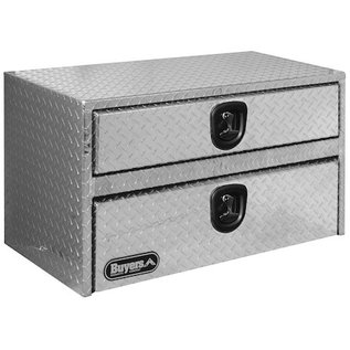 Buyers Products Company Diamond Tread Aluminum Underbody Truck Box with Drawer Series