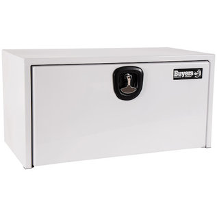 Buyers Products Company White Steel Underbody Truck Box with 3-Point Latch Series