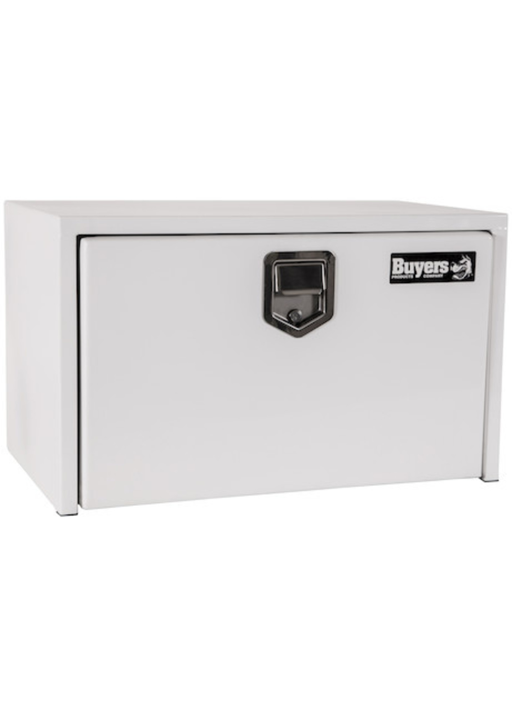 Buyers Products Company White Steel Underbody Truck Box with Paddle Latch Series